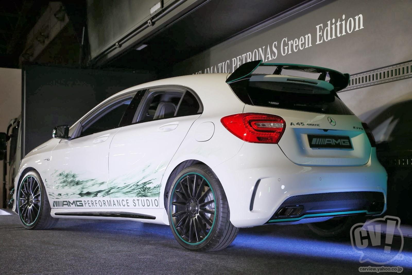 Mercedes benz a 45 amg petronas green edition is unique