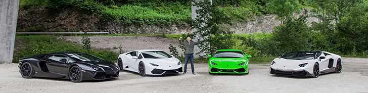 Lifestyle photoshoot with Lamborghini & Manufacture Royale