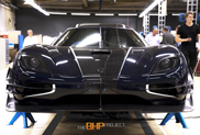 Blue Koenigsegg One:1 is ready to be shown
