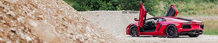 Photoshoot: two beautiful Lamborghini Aventadors