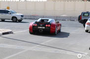 Red and black Veyron smiles for the camera in Doha