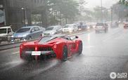 Ferrari LaFerrari defies the rain