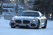Mercedes-AMG GT R shows up in cold weather