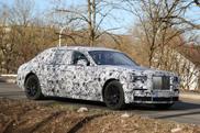 Rolls-Royce Phantom spyshots with renewed design