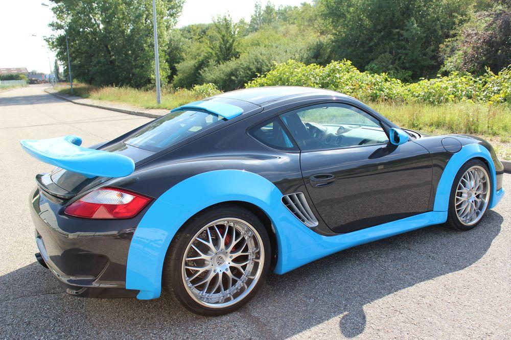 In Frankrijk Houden Porsche Cayman Door Jacquemond