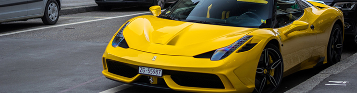 Bright yellow Ferrari 458 Speciale A looks just perfect