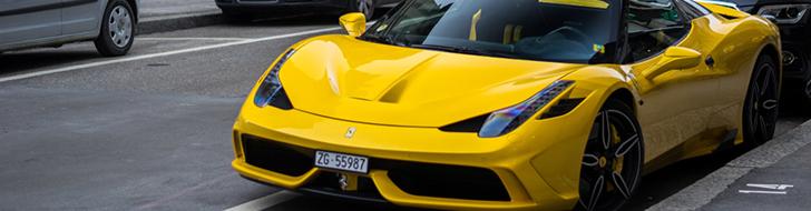 La Ferrari 458 Speciale A en jaune clair est juste parfaite