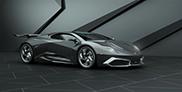Grigory Gorin rijdt digitaal de Lamborghini Phenomeno naar buiten