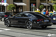 Robert Lewandowski's company car is an Audi RS7 Sportback