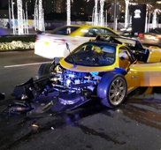 Pagani Zonda C12-F crashed in Dubai