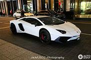 Witte Lamborghini Aventador LP750-4 SuperVeloce gespot