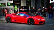 Lamborghini Huracán poseert als reclamebord