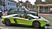 Topspot: knalgroene Lamborghini Aventador LP720-4 Roadster 50° Anniver