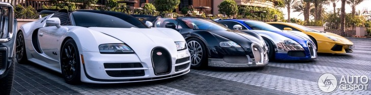 Even ridiculous for Dubai: three Veyrons in a row
