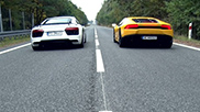 Who will be faster: Audi R8 V10 or Lamborghini Huracán LP610-4
