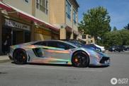Om gek van te worden: Lamborghini Aventador in idiote wrap