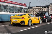 Ferrari F12tdf straalt in Zürich