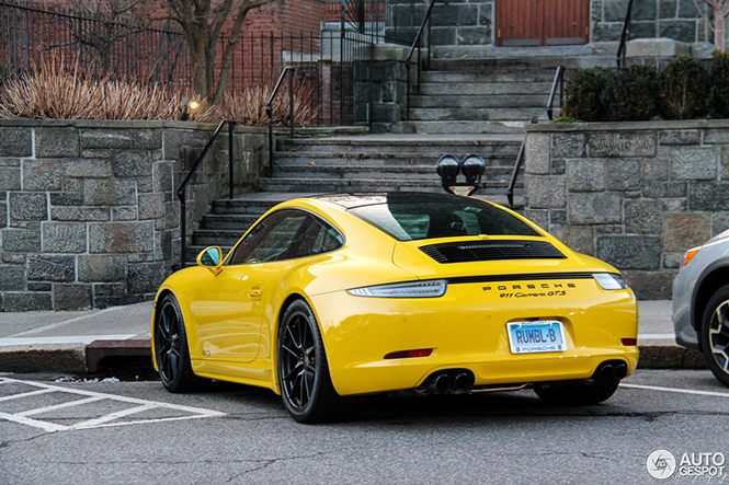 spot of the day usa bright yellow porsche 991 carrera gts. Black Bedroom Furniture Sets. Home Design Ideas