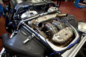 Porsche 918 Spyder prototype op het circuit