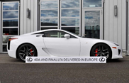 Last Lexus LF-A will go to Switzerland