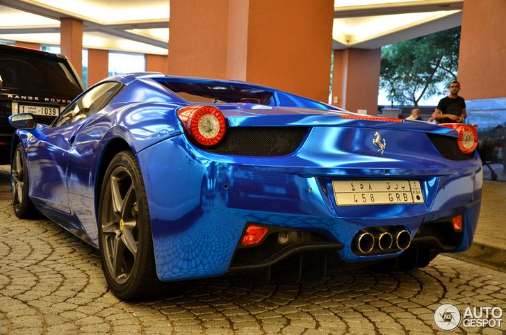 Ferrari 458 Spider Blu Cromata A Dubai