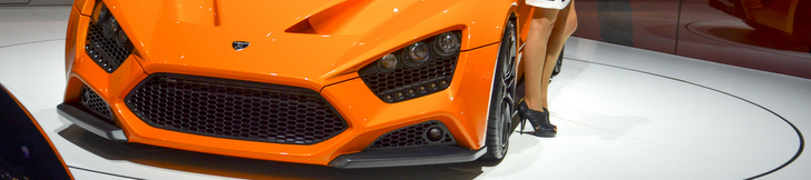 Zenvo St1 Orange Top Gear Geneva 2014 Zenvo St1 Top