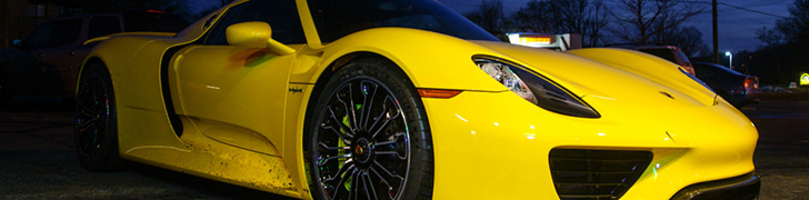 Yellow Porsche 918 Spyder is used very often