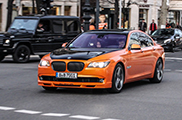Orange looks surpisingly good on the Alpina B7