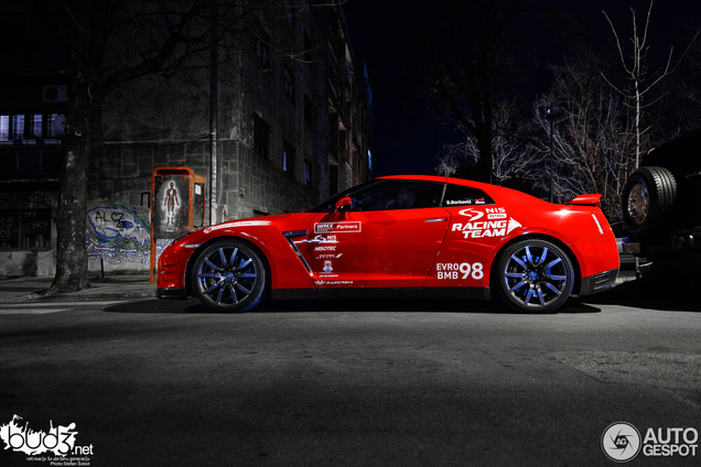 WTCC vozač Dušan Borković vozi Nissan GT-R