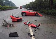 This is how you crash a Ferrari 458 Italia