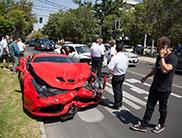 Ferrari 458 Speciale flink gehavend in Chili