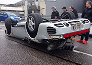 Porsche 959 turns upside down in Geneva