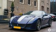 Spot van de dag: donkerblauwe Ferrari 599 GTO