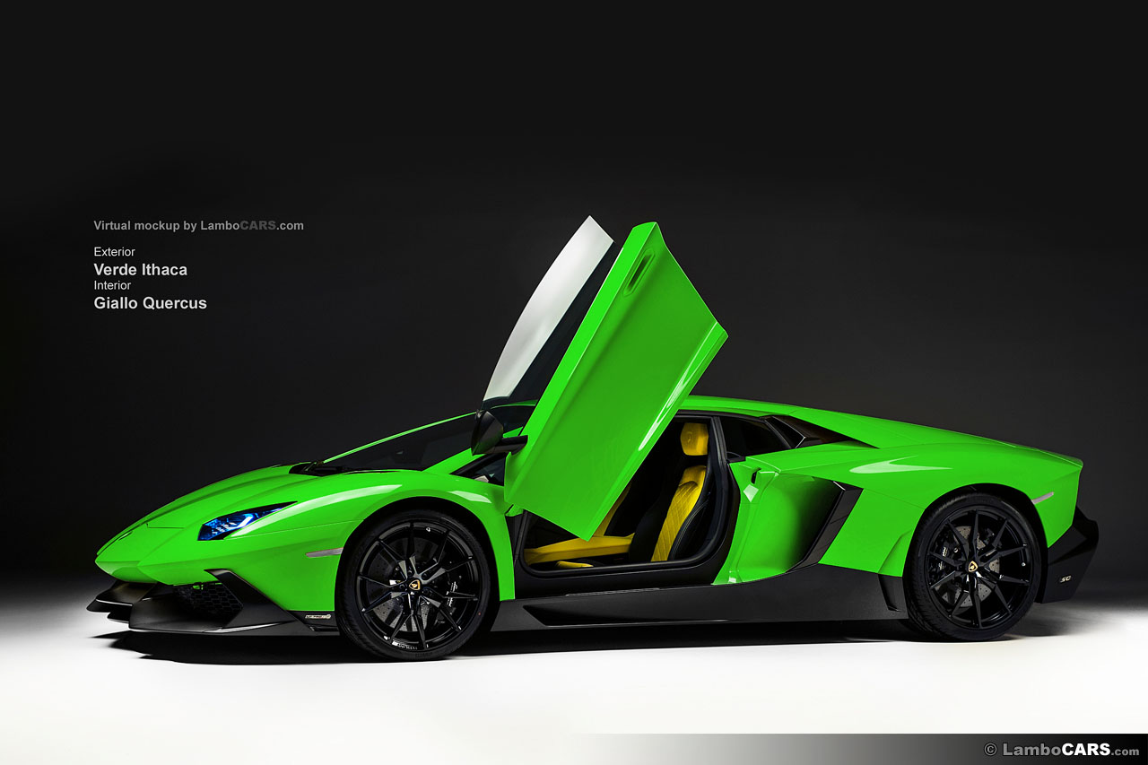 A lot of colours for t... Lamborghini Aventador Yellow And Black