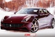 Le rendu d'une berline Ferrari