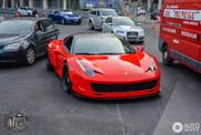 Very wide Ferrari 458 Italia wakes up Monaco
