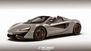 Rendering: McLaren 570S Spider