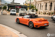 Orange Porsche 991 Turbo S is a strange sighting