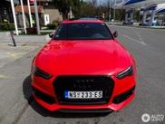 Rode Audi RS6 Avant verraadt zijn sportiviteit