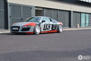 这台奥迪 R8 的轮圈令人印象深刻