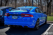 Beautiful blue Jaguar XFR-S shows up in the United States