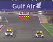 Formula 1 Safety car competes with the Medical car