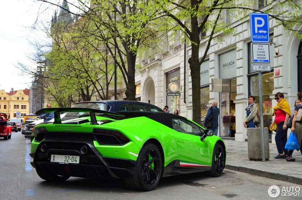 Opnieuw een Lamborghini Huracán Performante Spyder gespot