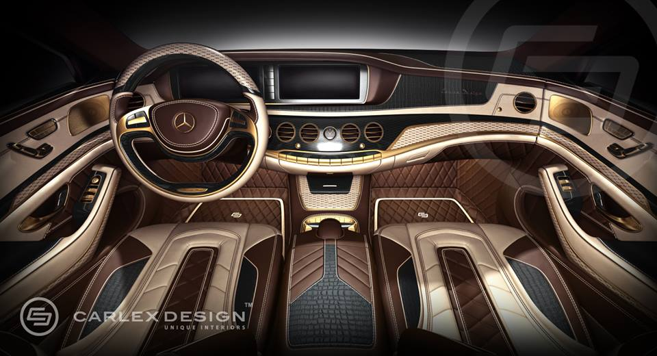 Carlex design makes a unique interior for the mercedes for Mercedes classe r interieur