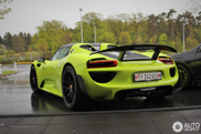 A Porsche 918 Spyder can't be more green