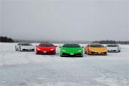 Filmpje: Lamborghini Huracán neemt het op tegen sneeuwscooter