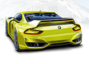 E.Milano draws BMW 3.0 CSL Hommage