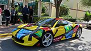 Kunstzinnige Ferrari 458 Spider gespot in Miami Beach