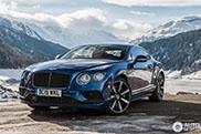 Bentley Continental GT Speed heerlijk vastgelegd op Zwitserse bergpas