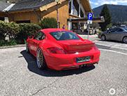 Opmerkelijke Porsche Cayman gespot